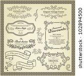 set of design elements  labels  ... | Shutterstock .eps vector #102894500