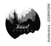 forest logo design  nature... | Shutterstock .eps vector #1028945308