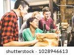 multiracial friends drinking...   Shutterstock . vector #1028946613