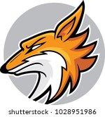 fox head mascot  vector... | Shutterstock .eps vector #1028951986