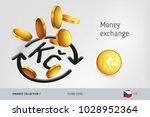 Money Exchange Icon With Flyin...