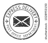 express delivery black round... | Shutterstock . vector #1028953150