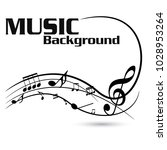 abstract black music notes on... | Shutterstock .eps vector #1028953264