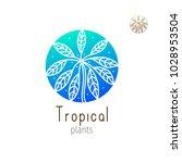 tropical plant logo. vector... | Shutterstock .eps vector #1028953504