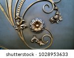 beautiful metallic flower and... | Shutterstock . vector #1028953633