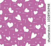 cute seamless pattern with... | Shutterstock .eps vector #1028956948