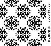 black floral ornament on white... | Shutterstock .eps vector #1028958703