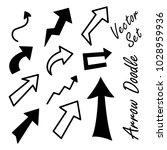 arrow doodle vector set | Shutterstock .eps vector #1028959936