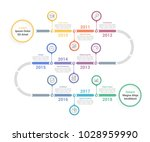 timeline infographics template... | Shutterstock .eps vector #1028959990