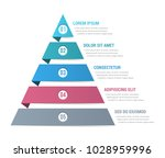 pyramid infographic template... | Shutterstock .eps vector #1028959996