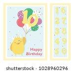 birthday party invitation card  ... | Shutterstock .eps vector #1028960296