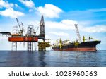 jack up drilling rig on...   Shutterstock . vector #1028960563