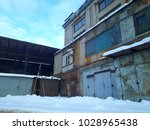 a abandoned old factory | Shutterstock . vector #1028965438