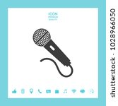 microphone symbol icon | Shutterstock .eps vector #1028966050