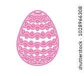 decorative easter egg dots and...