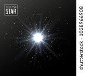 vector shining white star. half ... | Shutterstock .eps vector #1028966908