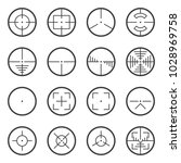 image of tactical sights icons.... | Shutterstock . vector #1028969758