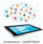 artificial intelligence  ai  ... | Shutterstock .eps vector #1028970634