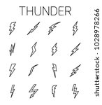 thunder related vector icon set.... | Shutterstock .eps vector #1028978266