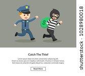 catch the thief job information | Shutterstock .eps vector #1028980018