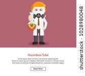 hazardous tube job information | Shutterstock .eps vector #1028980048
