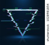 geometrical glitched banner .... | Shutterstock .eps vector #1028981854