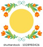 vector floral frame with...   Shutterstock .eps vector #1028983426