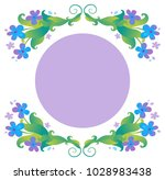 vector floral frame with... | Shutterstock .eps vector #1028983438