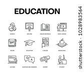 education icon set concept | Shutterstock .eps vector #1028983564