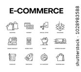 e commerce icon set concept   Shutterstock .eps vector #1028983588