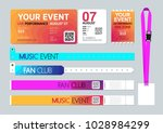 event entrance ticket  badge... | Shutterstock .eps vector #1028984299