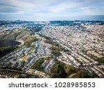 birds eye view photo of daly... | Shutterstock . vector #1028985853