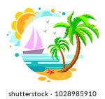 nice logo on the theme of the... | Shutterstock .eps vector #1028985910