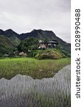 Small photo of The Batad village cluster-part of the Rice Terraces of the Philippine Cordilleras UNESCO World Heritage Site in the cultural landscape category. Banaue-Ifugao province-Cordillera region-Luzon island.