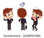 vector set of businessman... | Shutterstock .eps vector #1028991580