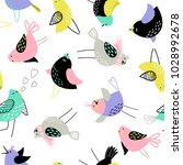 seamless pattern with birds | Shutterstock .eps vector #1028992678
