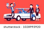 car loan approved. happy young...   Shutterstock .eps vector #1028993920