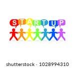 start up word in speech bubbles ...   Shutterstock .eps vector #1028994310