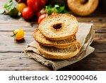 traditional italian bread... | Shutterstock . vector #1029000406