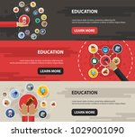 education flat icon concept.... | Shutterstock .eps vector #1029001090
