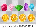 gems and gold coins. vector...