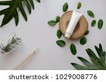 natural organic cosmetic... | Shutterstock . vector #1029008776