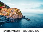 second city of the cique terre... | Shutterstock . vector #1029009529