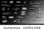 glitch elements set. computer... | Shutterstock .eps vector #1029011968