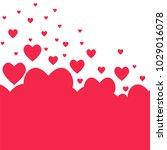 pink valentine's day hearts... | Shutterstock .eps vector #1029016078