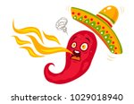 vector illustration of a spicy... | Shutterstock .eps vector #1029018940