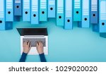 organized archive with ring... | Shutterstock . vector #1029020020