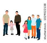 family  flat style | Shutterstock .eps vector #1029022138