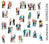 isolated isometric people set... | Shutterstock .eps vector #1029022156