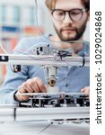 engineering student using a 3d... | Shutterstock . vector #1029024868